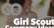 Girl Scout Ceremony Ideas / Time for planning your Girl Scout Troops next ceremony. Ideas for Bridging ceremonies, Girl Scouts' Own, Bronze, Silver and Gold Award ceremonies, Rededication Ceremonies, and more.