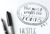 fonts & types