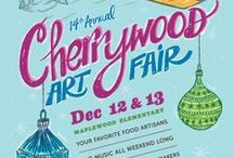 Cherrywood Art Fair Posters / ART FAIR EVENT PHOTOS over the years...We believe the retro theme of the poster is complementary to our venue, a mid-century public school built in 1948. We also believe it captures some of the central principles of the Cherrywood Art Fair— neighborhood involvement, family fun, and good times in the best tradition of Austin. Plus we think they are awesomely beautiful works of art!