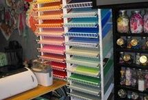 Corralling Craft Crap / A home for my numerous craft supplies. / by Hailey Dundas