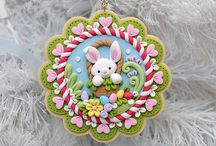 Polymer clay Spring Easter Valentines