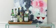 Bar Carts / Spice up your regular cocktails and decorate your bar to impress your guests. Bar Cart | Bar Cart Styling | Bar Cart Decor | Bar Cart Ideas | Bar Cart Inspiration