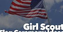 Girl Scout Flag Ceremony Ideas / Time for planning your Girl Scout Troops next flag ceremony. Get ideas to help your girls learn how to run a proper flag ceremony, fun patches for back of vest, how to fold flag and more.