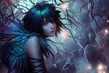 Art-Fairies / I love fairies, I think it is the beautiful colors. / by Marti Reid