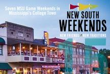 New South Weekends / College football has never been better in Starkville, MS. Every MSU home game weekend is a New South Weekend with events planned every Friday evening and special shopping hours every Sunday.