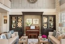 2 story wall ideas / 2 story wall ideas for rooms with tall ceilings.  Open to below.