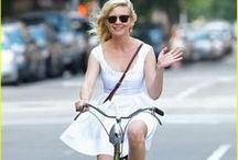 Celebrities on Bikes / I have a long love affair with pictures of celebrities on bicycles.