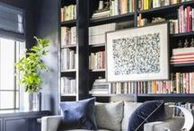 Library / Interior design and decorating ideas for a home library