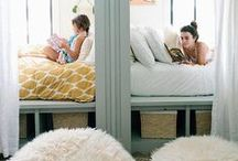 Bunk Room / Ideas for decorating a bunk room.  Beds.