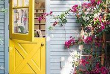 Doors / Cool door ideas, fun colors, paint, stain, dutch, etc