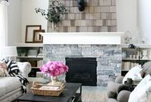 Fireplace / Interior design and decorating ideas for fireplaces