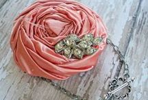 Fabric Rosettes! / Super cute and fun DIY fabric rosette bracelets, headbands and necklaces! / by Carla McPhee