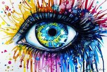 Art-Eyes / Eyes are the window to the soul / by Marti Reid