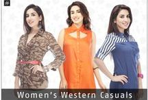 Women's western casuals / Browse through our complete range of fashionable casual wear for the woman of modern tastes.
