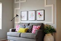 Unique Walls / Interior design and decorating ideas using unique wall treatments
