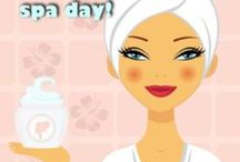 Pamper evening inspiration / Some DIY spa ideas and inspiration for holding your own pamper or indulgence evening. Popular PTA / PTO fundraiser.