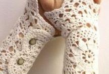 Crochet patterns armwarmers & mittens