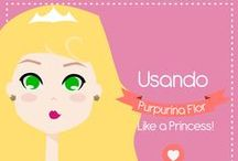 Princesses wearing Purpurina Flor / Our little princesses got a nice look!