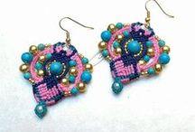 Macramè earrings / Macrame earrings from the web