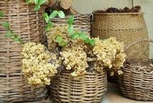 Baskets <3 ~ ThoughtfulSpot  / by Susan Piasecki @ ThoughtfulSpot