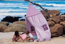 Inspiration - Play tents | Inspirasjon - Leketelt / #playtents #playhouses #teepees #tipis #pavilions #hangingtents #leketelt #teepee #paviljonger #hengetelt