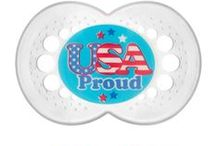 American Babies! / Patriotic MAM pacifiers to show your support for our brave servicemen and women and to celebrate July 4th :)
