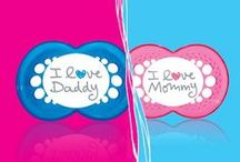 Little Hearts / These heart-adorned MAM Pacifiers are perfect for your little Valentine!