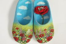 felted slippers / great ideas of felting slippers