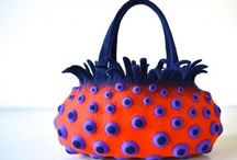 felted bags, felted clutches / All you can do with wetfelting technics