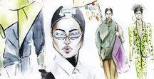 My Fashion illustrations / Instagram: @mdh_sketch