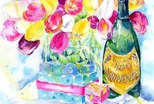 Floral - Fine Art Cards / You can see over 800 of my art images on my web site www.sheilagill.co.uk