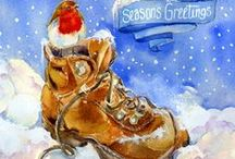 Christmas  - Fine Art Cards / You can see over 400 greeting cards on my shop at www.sheilagill.co.uk