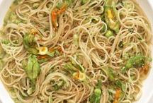 Spaghetti with Squash Blossoms