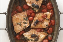Red Snapper Puttanesca / Puttanesca is a traditional Italian Pasta sauce made with tomatoes, garlic, capers and olives.