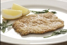 Veal Milanese / I am a pushover for veal Milanese. My version doesn't use bread crumbs. I envelop the veal in a low-carb cheese crust!