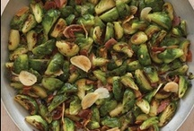 Brussels Sprouts with Pancetta / On the East Coast, this dish is a fall Italian-American tradition. It is usually prepared with lots of olive oil on the stovetop, but here I don't cook the Brussels sprouts in oil. Instead, I cook them in the natural oil from the savory pancetta and finish them in the oven.