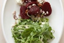 Italian Beet and Gorgonzola Salad / Beets have the distinction of being a high-sugar (yet low-calorie) food, so I also included shaved fennel here to keep the salad from becoming too sweet!