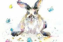 Hares & Rabbits  - Fine Art Cards