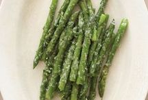 Asparagus with Pecorino Romano / I love asparagus just about any way you make it. In my calorie-cutting version, the asparagus is cooked in water and the olive oil is added at the end.