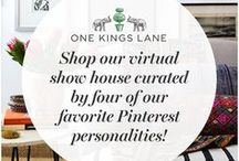 One Kings Lane Virtual Show House / We've talked some of our favorite Pinterest personalities into creating a virtual show house, a kind of grassroots take on the state of design. They've also curated a sale that will give us all a chance to get the look of their virtual rooms without breaking a sweat. Shop the show house: https://www.onekingslane.com/sales/28418