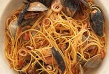 Spaghetti Marechiara / Here's a shellfish fantasy brimming with calamari, clams, mussels and shrimp tossed in a zesty tomato sauce!