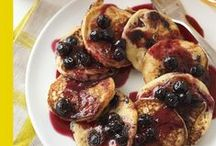 Blue on Blueberry Silver Dollar Pancakes / My quick blueberry syrup is a terrific complement to these pancakes, and it adds a nutritious fruit to your breakfast. Blueberries are a virtual powerhouse of great nutrition - and great for brain health.
