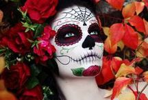 Make up for the Day of the Dead / Beautiful and bizarre makeup ideas