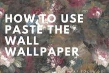 HOW TO WALLPAPER /  How to hang paste the wall wallpaper