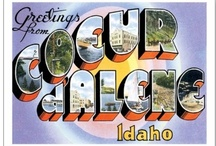 """Coeur d'Alene, Idaho / Honored as an """"All-America City"""", Coeur d'Alene sits on the north shore of Lake Coeur d'Alene in Kootenai County surrounded by the forested slopes of the foothills to the Rockies."""