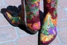 """COWGIRL & COWBOY BOOTS -"""" ALL-AMERICAN SWEETHEARTS """" &"""" HEARTLAND """" BRAND OF WESTERN BOOTS / by Bruce Smith-Grant"""