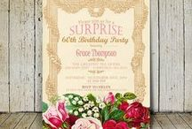 Printable invitations / Customized invitations to birthday party, baby shower, christmas party, bridal shower, anniversary,  wedding, etc. / by Lulu
