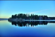 Vesi lumi joet puttoukset / Purot puttoukset joet kosket järvet meret veet vesistöt vesisatheet vesipisarat lumihiutahlheet nietokset ja heijjastukset!