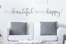 Motivational & Inspirational Wall Decal Quotes / A whole section of vinyl lettering decals in all different styles with messages to inspire, motivate, and encourage you.
