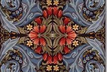 William Morris / William Morris design. Wallpaper, fabric.